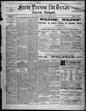Primary view of Freie Presse für Texas. (San Antonio, Tex.), Vol. 27, No. 2930, Ed. 1 Monday, December 7, 1891