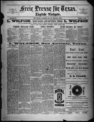 Primary view of Freie Presse für Texas. (San Antonio, Tex.), Vol. 23, No. 1644, Ed. 1 Thursday, September 29, 1887