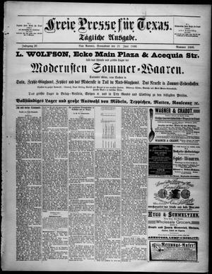 Primary view of Freie Presse für Texas. (San Antonio, Tex.), Vol. 26, No. 2480, Ed. 1 Saturday, June 21, 1890