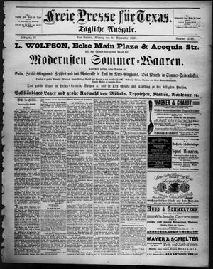 Primary view of Freie Presse für Texas. (San Antonio, Tex.), Vol. 26, No. 2546, Ed. 1 Monday, September 8, 1890