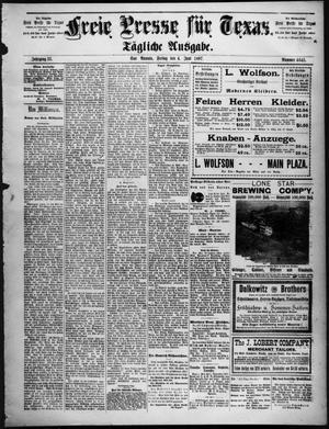 Primary view of Freie Presse für Texas. (San Antonio, Tex.), Vol. 33, No. 4645, Ed. 1 Friday, June 4, 1897