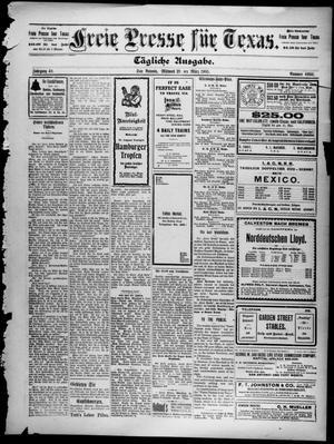 Primary view of Freie Presse für Texas. (San Antonio, Tex.), Vol. 40, No. 6980, Ed. 1 Wednesday, March 29, 1905
