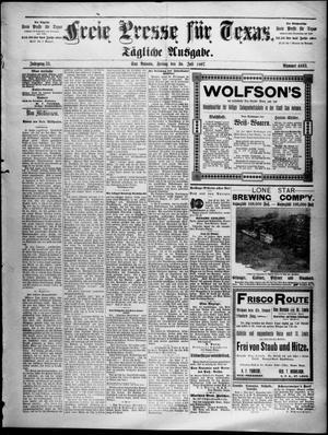 Primary view of Freie Presse für Texas. (San Antonio, Tex.), Vol. 33, No. 4693, Ed. 1 Friday, July 30, 1897