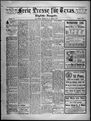 Primary view of Freie Presse für Texas. (San Antonio, Tex.), Vol. 38, No. 6335, Ed. 1 Wednesday, February 25, 1903