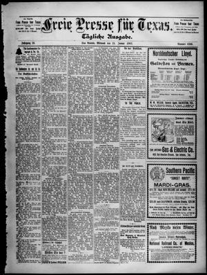 Primary view of Freie Presse für Texas. (San Antonio, Tex.), Vol. 38, No. 6306, Ed. 1 Wednesday, January 21, 1903