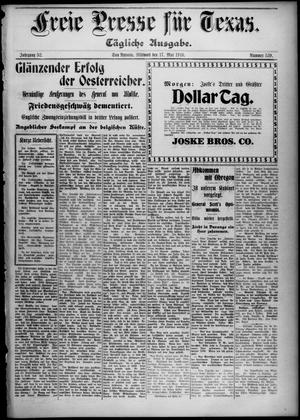 Primary view of Freie Presse für Texas. (San Antonio, Tex.), Vol. 52, No. 539, Ed. 1 Wednesday, May 17, 1916