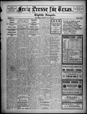 Primary view of Freie Presse für Texas. (San Antonio, Tex.), Vol. 46, No. 8880, Ed. 1 Saturday, May 13, 1911
