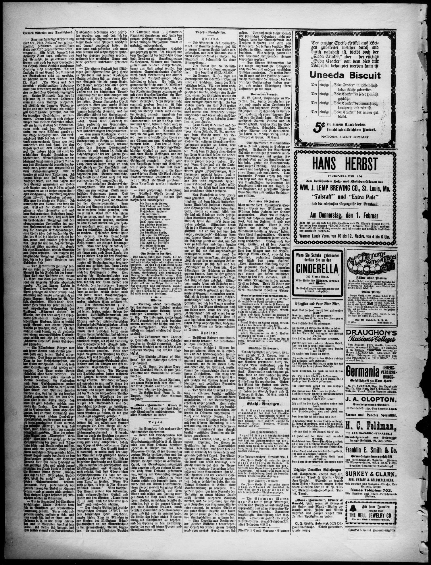 Freie Presse für Texas  (San Antonio, Tex ), Vol  42, No
