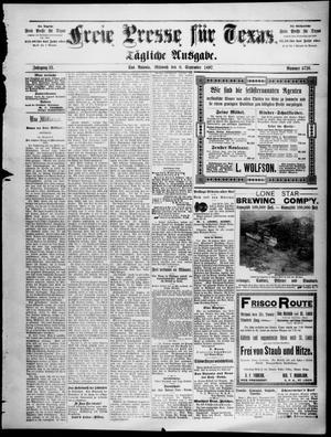 Primary view of Freie Presse für Texas. (San Antonio, Tex.), Vol. 33, No. 4726, Ed. 1 Wednesday, September 8, 1897