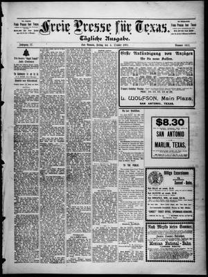 Primary view of Freie Presse für Texas. (San Antonio, Tex.), Vol. 37, No. 5911, Ed. 1 Friday, October 4, 1901