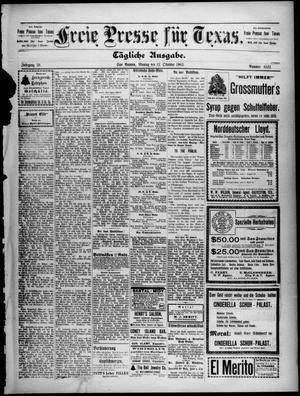 Primary view of Freie Presse für Texas. (San Antonio, Tex.), Vol. 39, No. 6531, Ed. 1 Monday, October 12, 1903