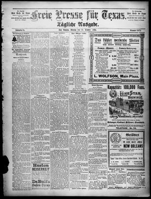 Primary view of Freie Presse für Texas. (San Antonio, Tex.), Vol. 34, No. 5072, Ed. 1 Monday, October 31, 1898