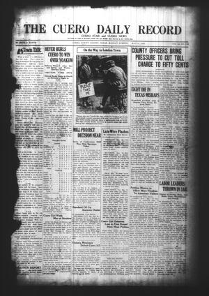 Primary view of object titled 'The Cuero Daily Record (Cuero, Tex.), Vol. 64, No. 110, Ed. 1 Monday, May 10, 1926'.