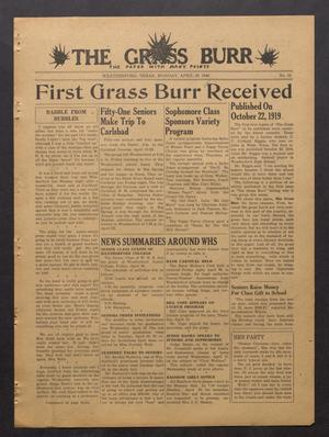 Primary view of object titled 'The Grass Burr (Weatherford, Tex.), No. 15, Ed. 1 Monday, April 29, 1946'.