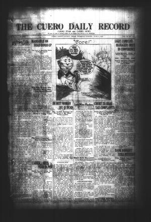 Primary view of object titled 'The Cuero Daily Record (Cuero, Tex.), Vol. 64, No. 131, Ed. 1 Thursday, June 3, 1926'.