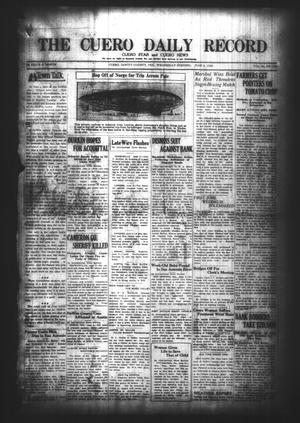 Primary view of object titled 'The Cuero Daily Record (Cuero, Tex.), Vol. 64, No. 130, Ed. 1 Wednesday, June 2, 1926'.