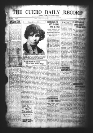 Primary view of object titled 'The Cuero Daily Record (Cuero, Tex.), Vol. 64, No. 85, Ed. 1 Sunday, April 11, 1926'.