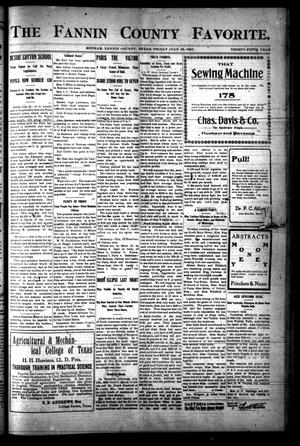The Fannin County Favorite. (Bonham, Tex.), Vol. 35, No. [16], Ed. 1 Friday, July 26, 1907