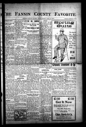 The Fannin County Favorite. (Bonham, Tex.), Vol. 32, No. [3], Ed. 1 Friday, April 26, 1907
