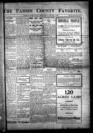 The Fannin County Favorite. (Bonham, Tex.), Vol. 32, No. [39], Ed. 1 Friday, January 4, 1907