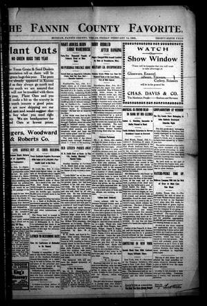 The Fannin County Favorite. (Bonham, Tex.), Vol. 35, No. [45], Ed. 1 Friday, February 14, 1908