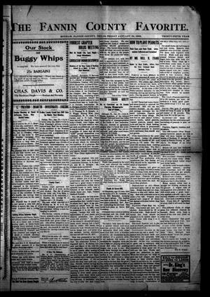 The Fannin County Favorite. (Bonham, Tex.), Vol. 35, No. [42], Ed. 1 Friday, January 24, 1908