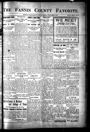 The Fannin County Favorite. (Bonham, Tex.), Vol. 35, No. [22], Ed. 1 Friday, September 6, 1907