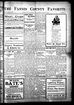 The Fannin County Favorite. (Bonham, Tex.), Vol. 36, No. 3, Ed. 1 Friday, April 24, 1908