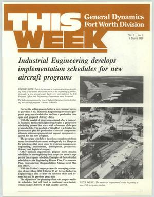 Primary view of GDFW This Week, Volume 2, Number 9, March 4, 1988