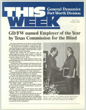Primary view of object titled 'GDFW This Week, Volume 2, Number 3, January 22, 1988'.