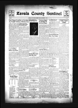 Zavala County Sentinel (Crystal City, Tex.), Vol. 31, No. 20, Ed. 1 Friday, September 11, 1942