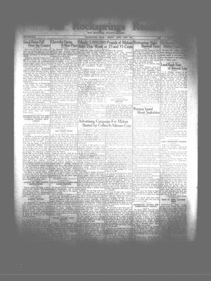 The Rocksprings Record and Edwards County Leader (Rocksprings, Tex.), Vol. 17, No. [21], Ed. 1 Friday, April 26, 1935