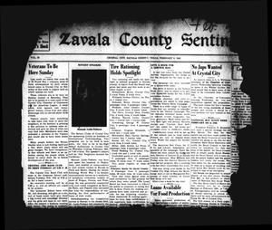 Zavala County Sentinel (Crystal City, Tex.), Vol. 30, No. [41], Ed. 1 Friday, February 6, 1942