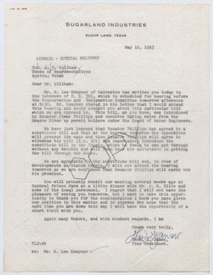 Primary view of object titled '[Letter from Thomas L. James to J. O. Gillham, May 19, 1953]'.