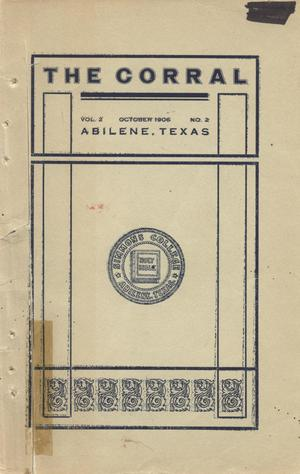 Primary view of object titled 'The Corral, Volume 2, Number 2, October 1906'.