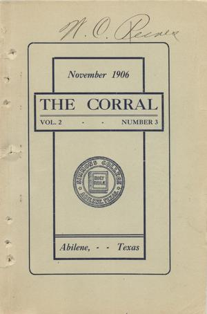 Primary view of object titled 'The Corral, Volume 2, Number 3, November 1906'.