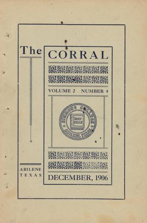The Corral, Volume 2, Number 4, December, 1906