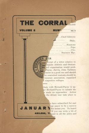 The Corral, Volume 2, Number 5, January, 1907