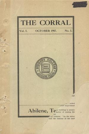Primary view of object titled 'The Corral, Volume 1, Number 1, October 1907'.