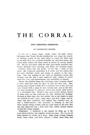 The Corral, Volume 1, Number 3, December, 1907