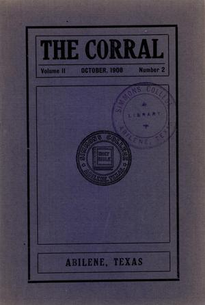 Primary view of object titled 'The Corral, Volume 2, Number 2, October, 1908'.