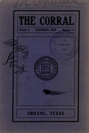 Primary view of object titled 'The Corral, Volume 2, Number 3, November, 1908'.