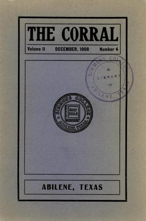 Primary view of object titled 'The Corral, Volume 2, Number 4, December, 1908'.