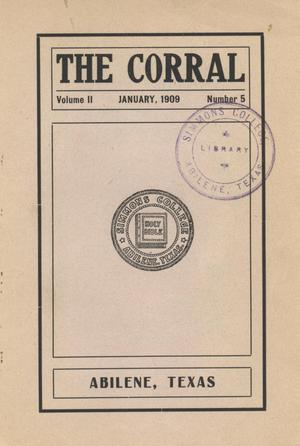 Primary view of object titled 'The Corral, Volume 2, Number 5, January, 1909'.