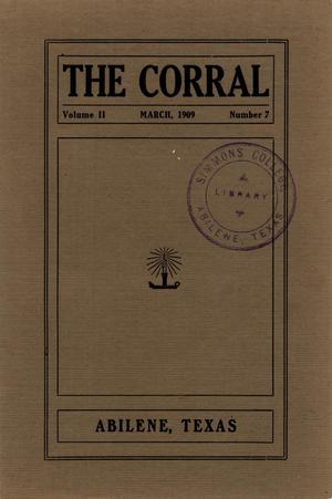 Primary view of object titled 'The Corral, Volume 2, Number 7, March, 1909'.