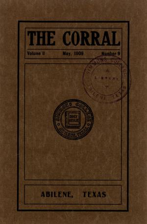 Primary view of object titled 'The Corral, Volume 2, Number 9, May, 1909'.