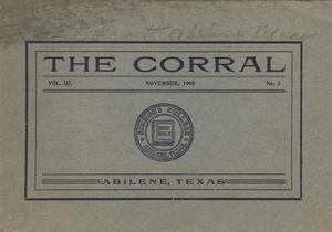 Primary view of object titled 'The Corral, Volume 3, Number 3, November, 1909'.