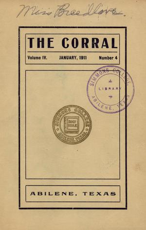 The Corral, Volume 4, Number 4, January, 1911