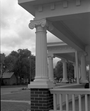 Primary view of object titled '[Ionic Columns on the E. B. Black House]'.