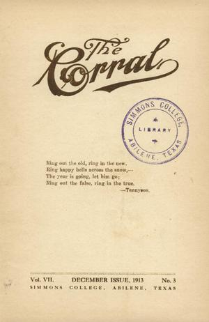 Primary view of object titled 'The Corral, Volume 7, Number 3, December, 1913'.